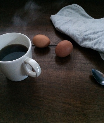 coffee and farm fresh eggs